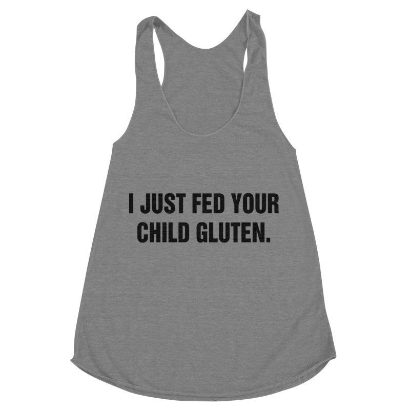 "SIDE EYE/""Gluten"" (Black) Women's Racerback Triblend Tank by Josh Sabarra's Shop"