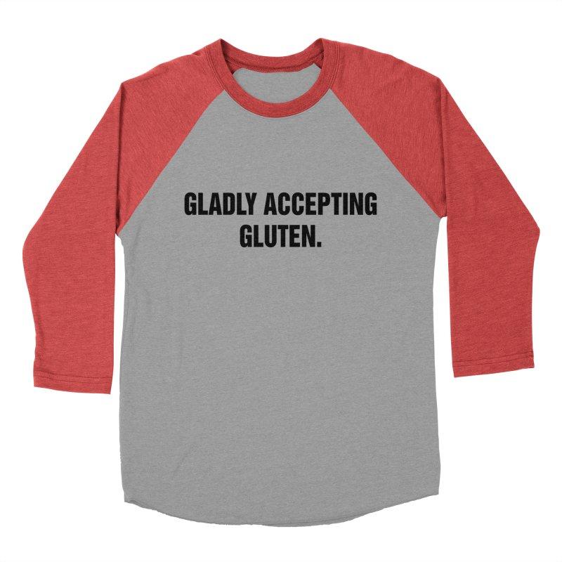 "SIDE EYE/""Accepting Gluten"" (Black) Women's Baseball Triblend Longsleeve T-Shirt by Josh Sabarra's Shop"