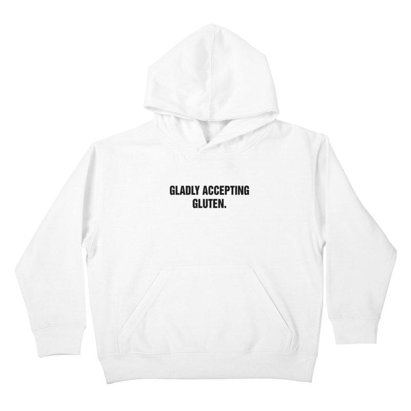 "SIDE EYE/""Accepting Gluten"" (Black) Kids Pullover Hoody by Josh Sabarra's Shop"