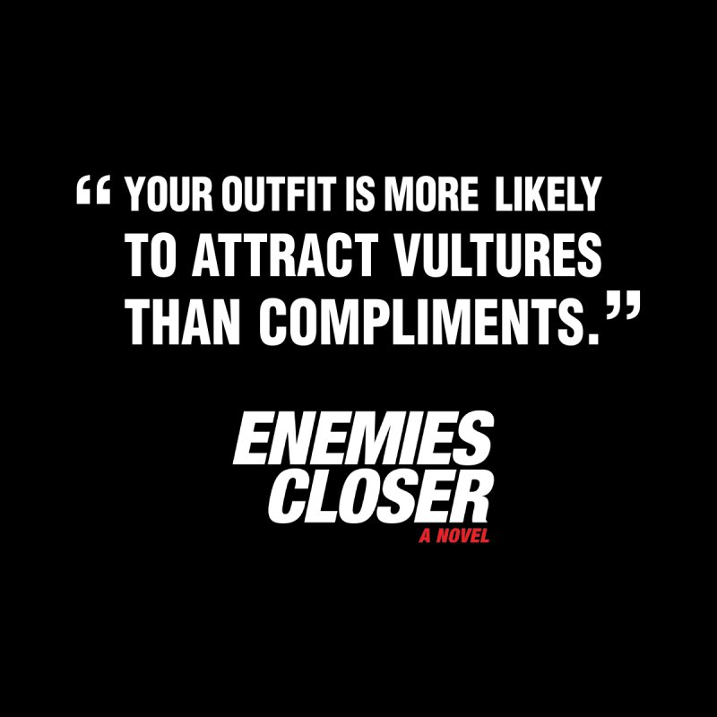 "ENEMIES CLOSER/""Vultures"" (White) Men's T-Shirt by Josh Sabarra's Shop"