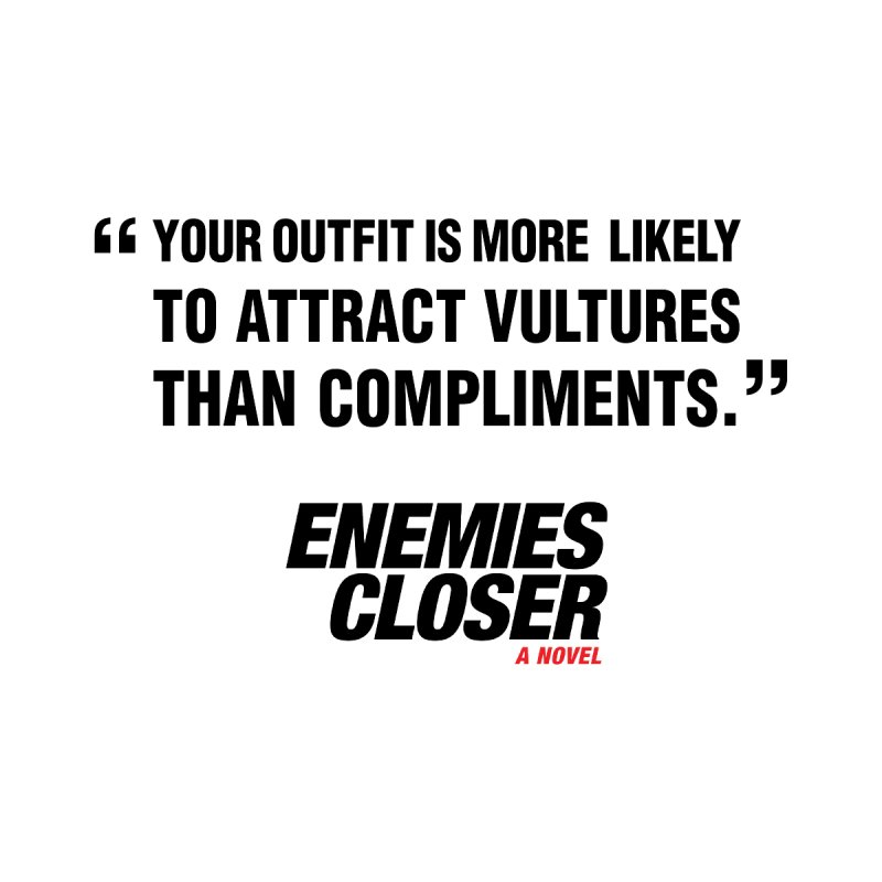 "ENEMIES CLOSER/""Vultures"" (Black) Accessories Bag by Josh Sabarra's Shop"