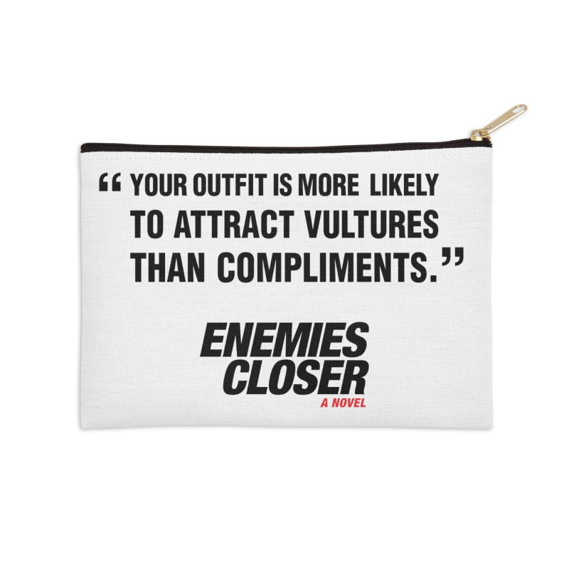"ENEMIES CLOSER/""Vultures"" (Black) Accessories Zip Pouch by Josh Sabarra's Shop"