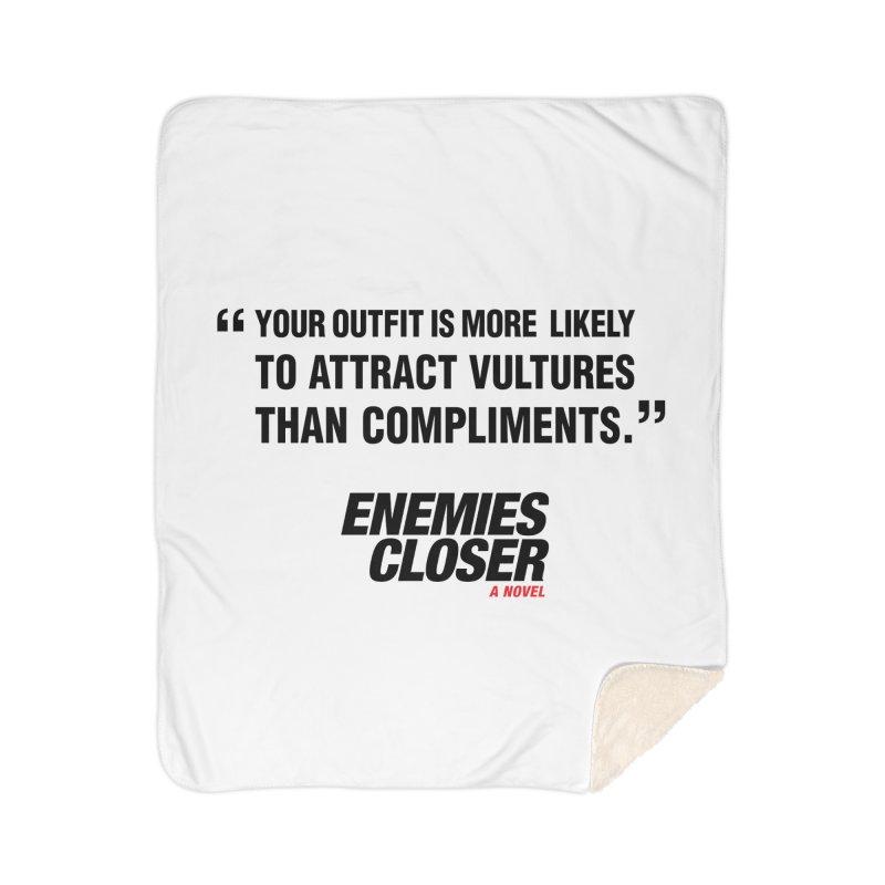 "ENEMIES CLOSER/""Vultures"" (Black) Home Sherpa Blanket Blanket by Josh Sabarra's Shop"
