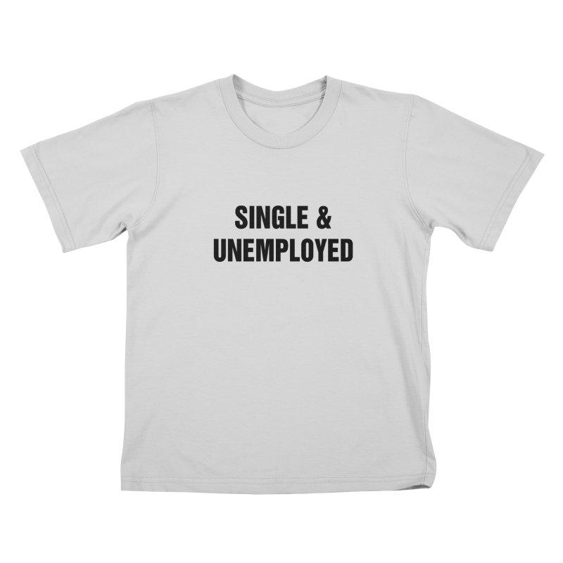 "SIDE EYE/""Single & Unemployed"" (Black) Kids T-Shirt by Josh Sabarra's Shop"