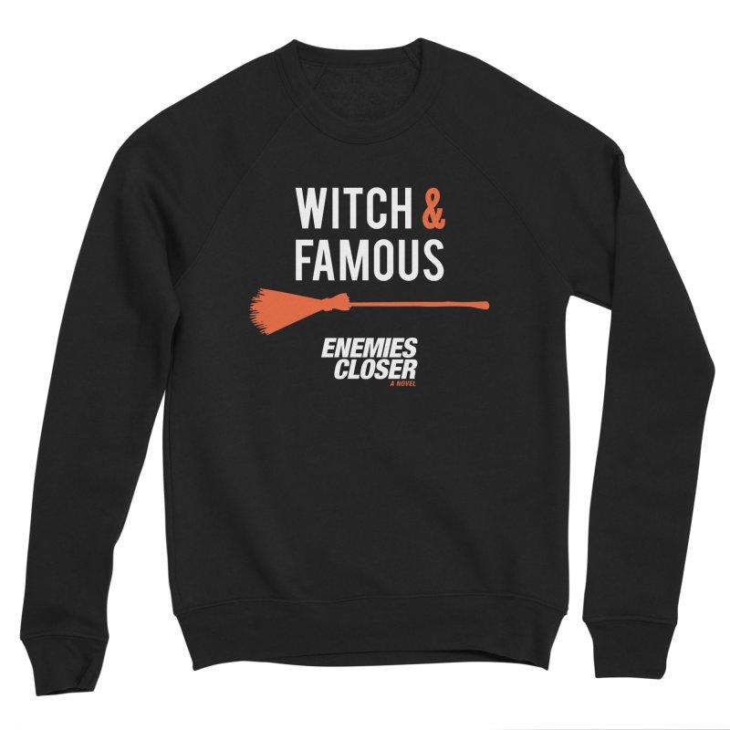 "ENEMIES CLOSER/""Witch & Famous"" (White/Orange) Women's Sponge Fleece Sweatshirt by Josh Sabarra's Shop"