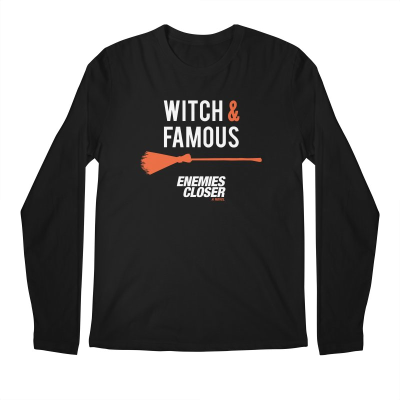 "ENEMIES CLOSER/""Witch & Famous"" (White/Orange) Men's Regular Longsleeve T-Shirt by Josh Sabarra's Shop"