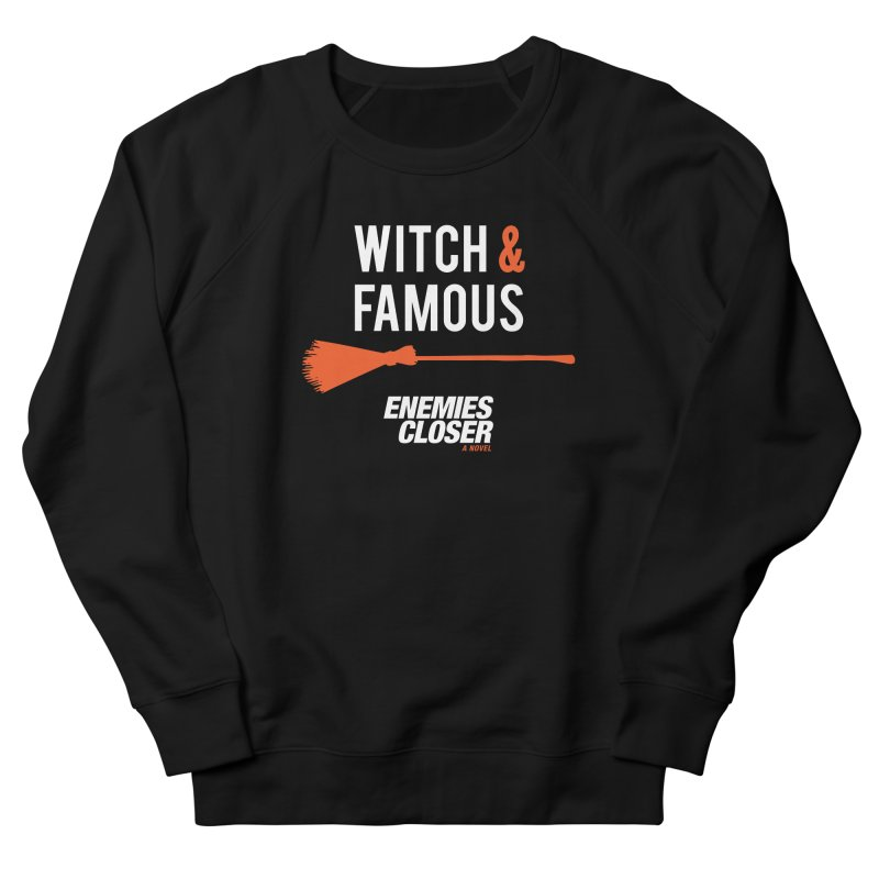 "ENEMIES CLOSER/""Witch & Famous"" (White/Orange) Men's French Terry Sweatshirt by Josh Sabarra's Shop"