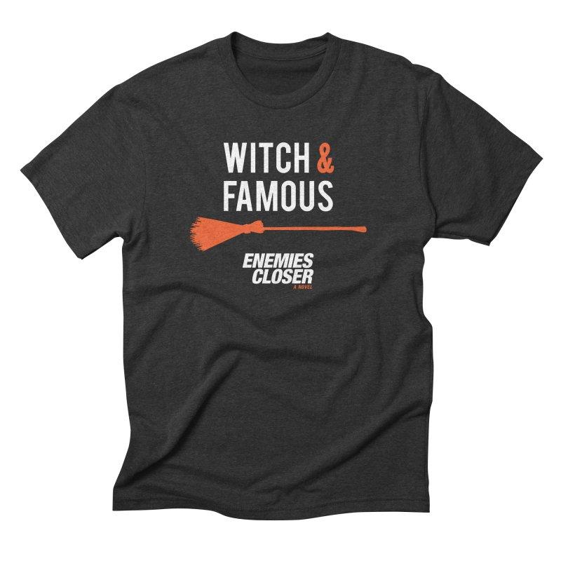 """ENEMIES CLOSER/""""Witch & Famous"""" (White/Orange) Men's T-Shirt by Josh Sabarra's Shop"""