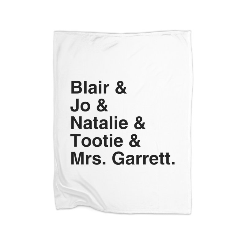 """SIDE EYE/""""The Facts Of Life"""" (Black) Home Blanket by Josh Sabarra's Shop"""