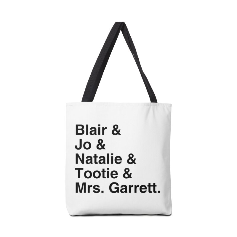 """SIDE EYE/""""The Facts Of Life"""" (Black) Accessories Bag by Josh Sabarra's Shop"""
