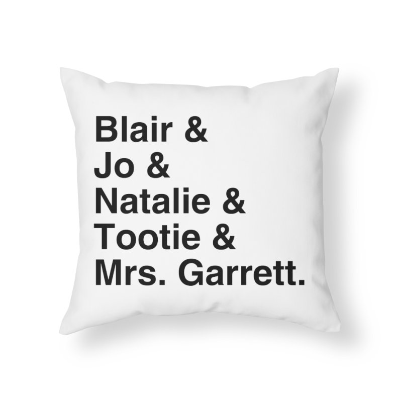 "SIDE EYE/""The Facts Of Life"" (Black) Home Throw Pillow by Josh Sabarra's Shop"
