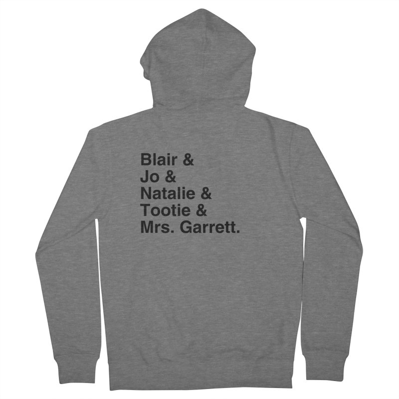 """SIDE EYE/""""The Facts Of Life"""" (Black) Men's French Terry Zip-Up Hoody by Josh Sabarra's Shop"""