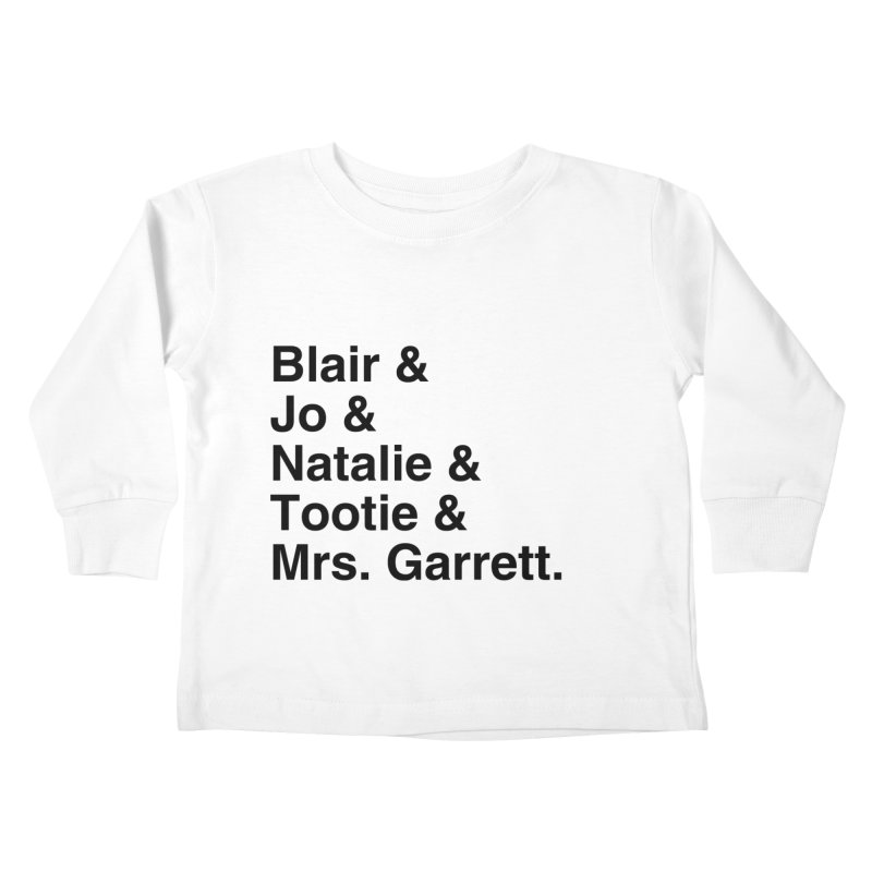 "SIDE EYE/""The Facts Of Life"" (Black) Kids Toddler Longsleeve T-Shirt by Josh Sabarra's Shop"