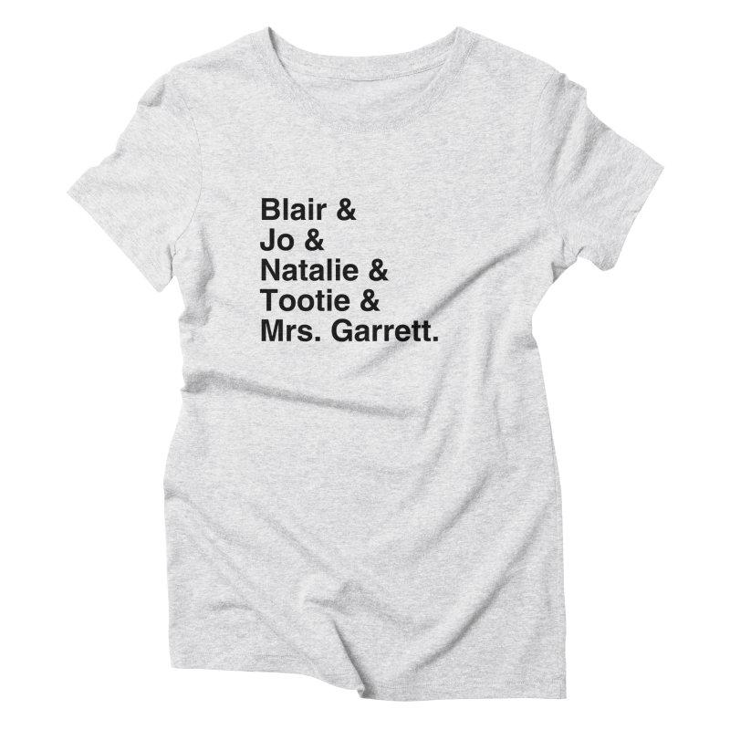 "SIDE EYE/""The Facts Of Life"" (Black) Women's Triblend T-Shirt by Josh Sabarra's Shop"