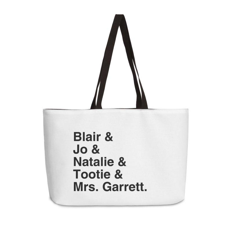 "SIDE EYE/""The Facts Of Life"" (Black) Accessories Weekender Bag Bag by Josh Sabarra's Shop"
