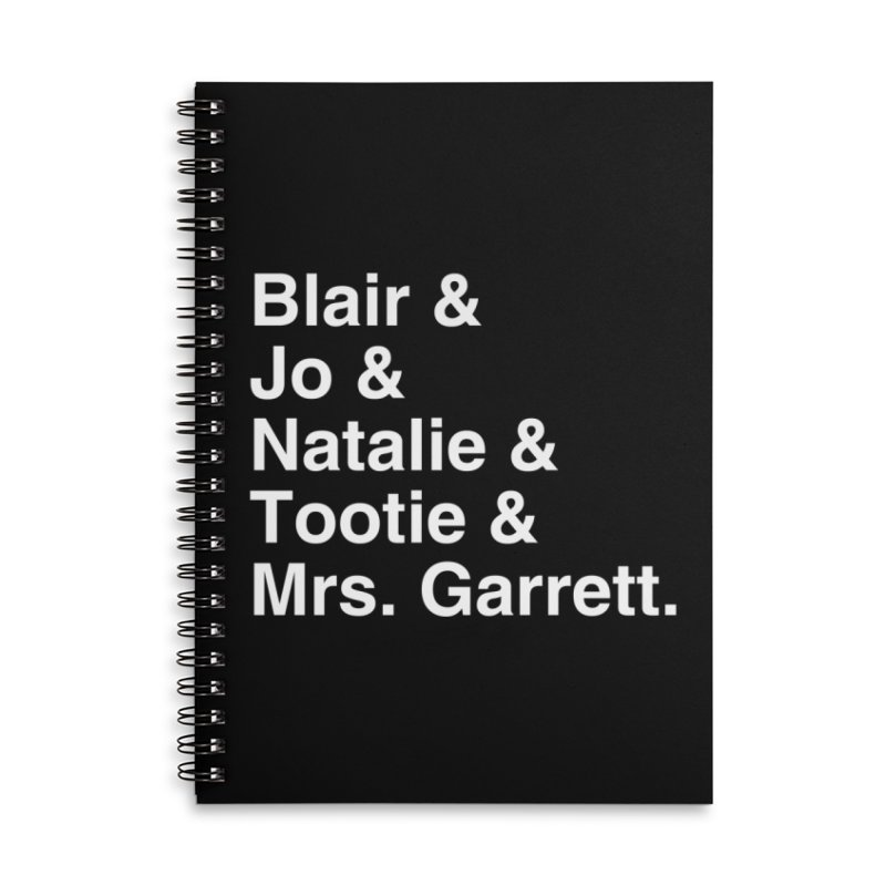 "SIDE EYE/""The Facts Of Life"" (White) Accessories Lined Spiral Notebook by Josh Sabarra's Shop"
