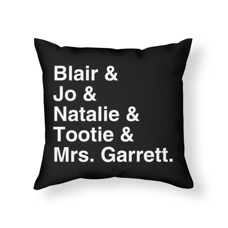 "SIDE EYE/""The Facts Of Life"" (White) Home Throw Pillow by Josh Sabarra's Shop"