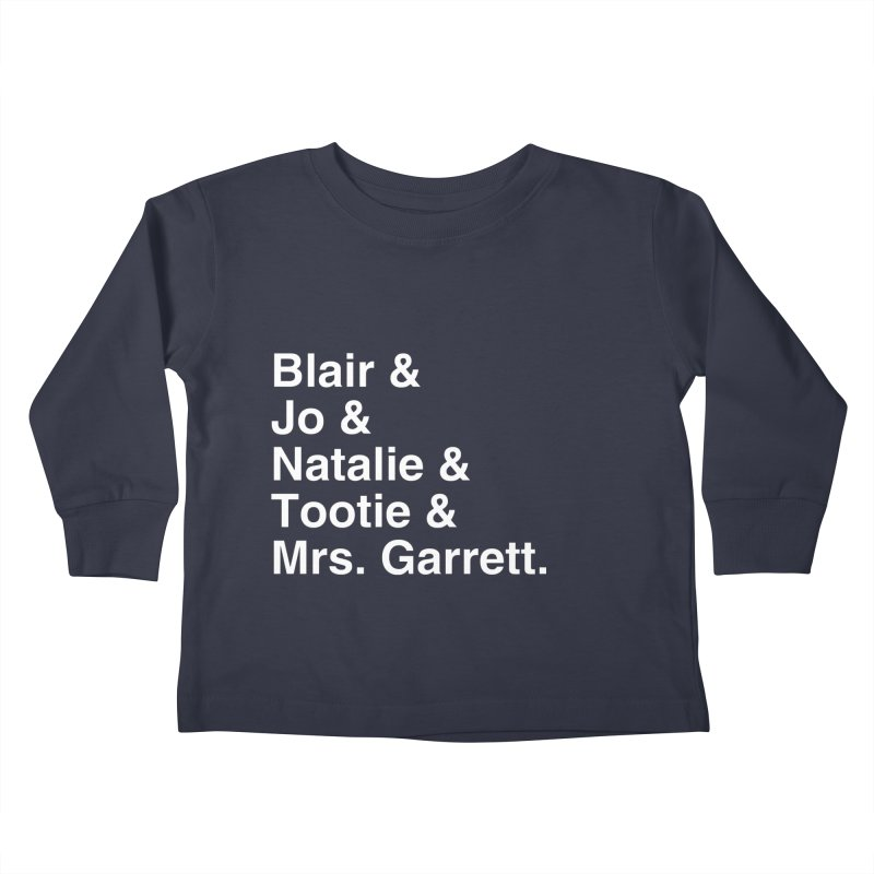 """SIDE EYE/""""The Facts Of Life"""" (White) Kids Toddler Longsleeve T-Shirt by Josh Sabarra's Shop"""