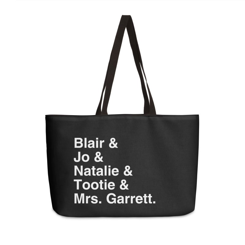 """SIDE EYE/""""The Facts Of Life"""" (White) Accessories Weekender Bag Bag by Josh Sabarra's Shop"""