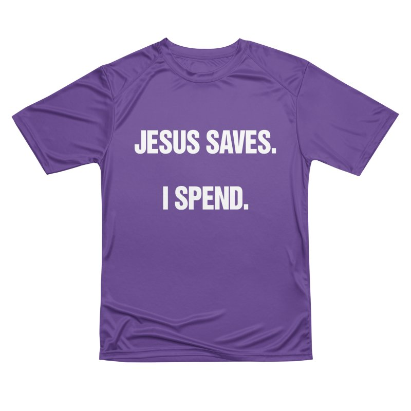 "SIDE EYE/""Jesus Saves"" (White) Men's Performance T-Shirt by Josh Sabarra's Shop"