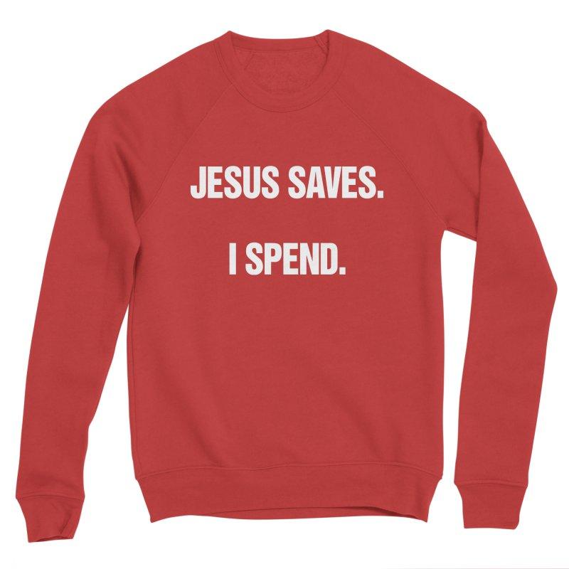 """SIDE EYE/""""Jesus Saves"""" (White) Women's Sponge Fleece Sweatshirt by Josh Sabarra's Shop"""