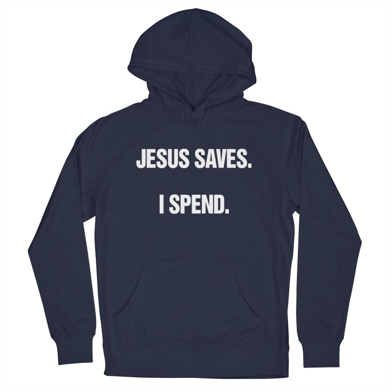 "SIDE EYE/""Jesus Saves"" (White) Women's French Terry Pullover Hoody by Josh Sabarra's Shop"