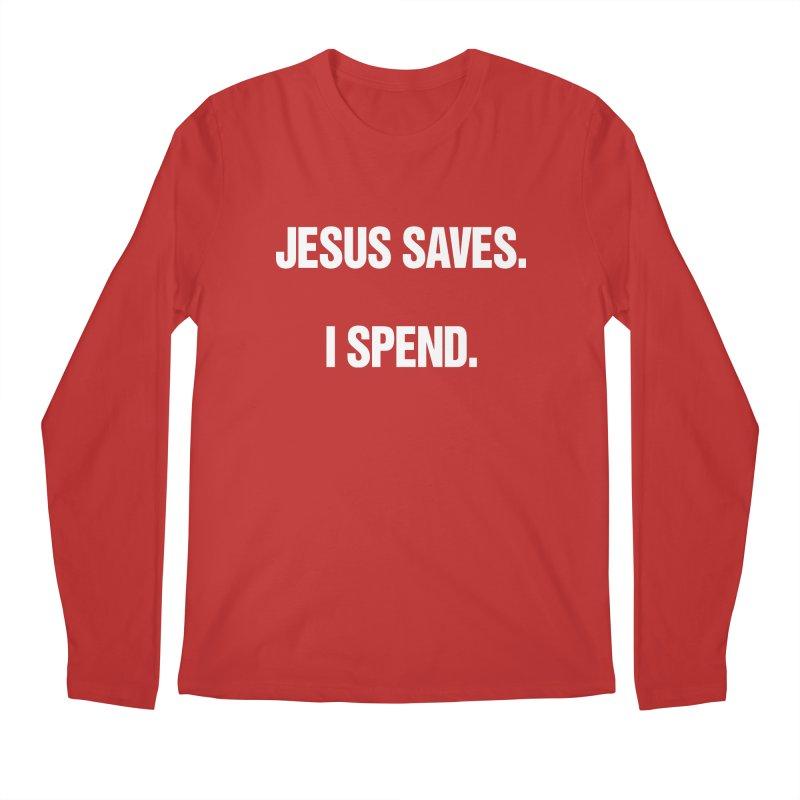 "SIDE EYE/""Jesus Saves"" (White) Men's Regular Longsleeve T-Shirt by Josh Sabarra's Shop"