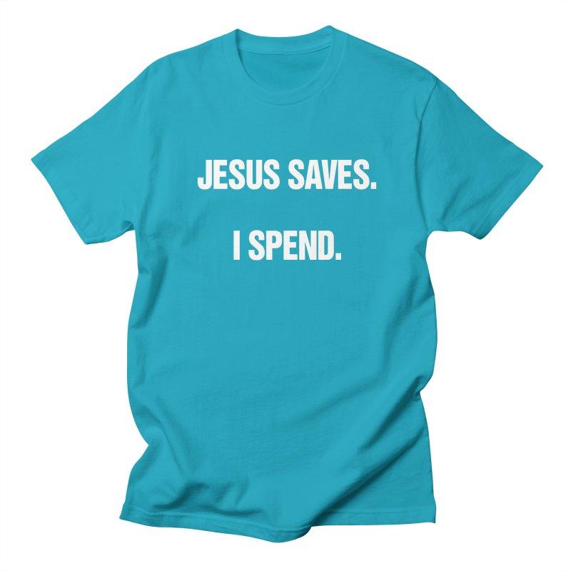 """SIDE EYE/""""Jesus Saves"""" (White) Men's Regular T-Shirt by Josh Sabarra's Shop"""