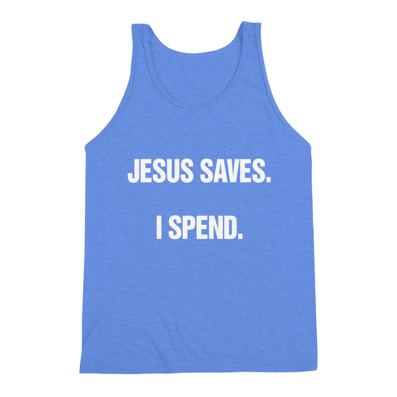 "SIDE EYE/""Jesus Saves"" (White) Men's Triblend Tank by Josh Sabarra's Shop"