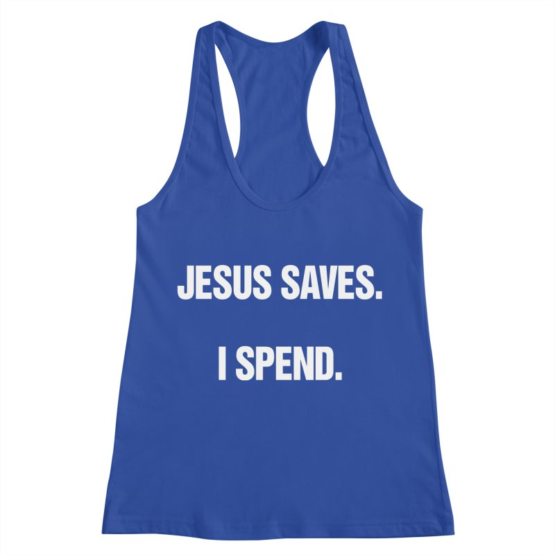 "SIDE EYE/""Jesus Saves"" (White) Women's Racerback Tank by Josh Sabarra's Shop"
