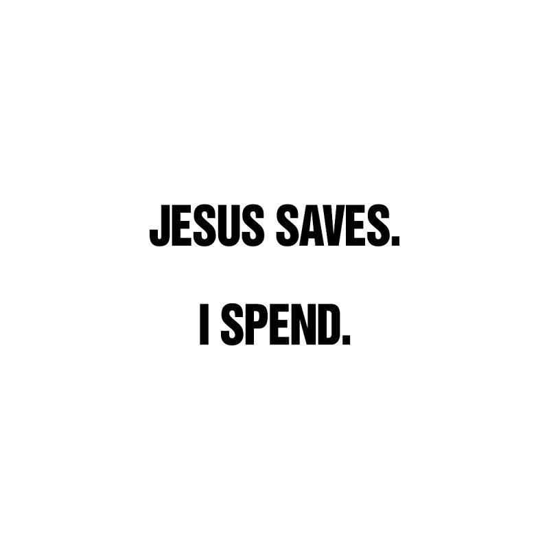 "SIDE EYE/""Jesus Saves"" (Black) Home Throw Pillow by Josh Sabarra's Shop"