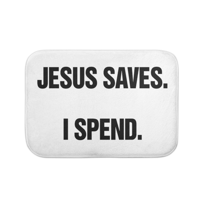 "SIDE EYE/""Jesus Saves"" (Black) Home Bath Mat by Josh Sabarra's Shop"