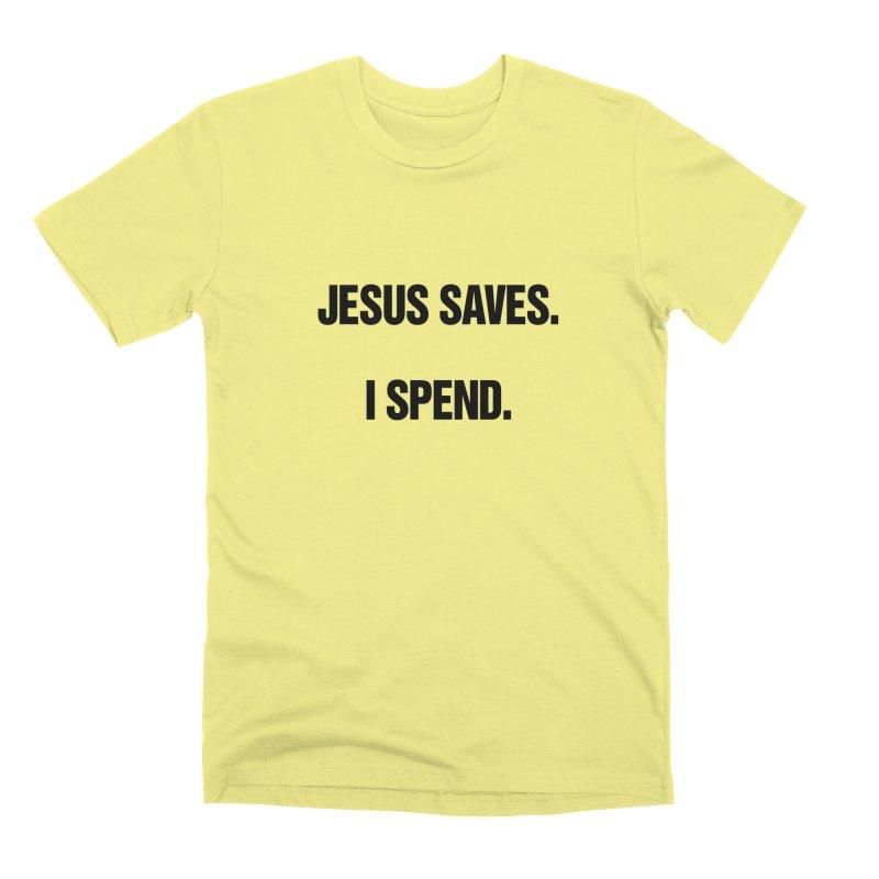 "SIDE EYE/""Jesus Saves"" (Black) Men's Premium T-Shirt by Josh Sabarra's Shop"