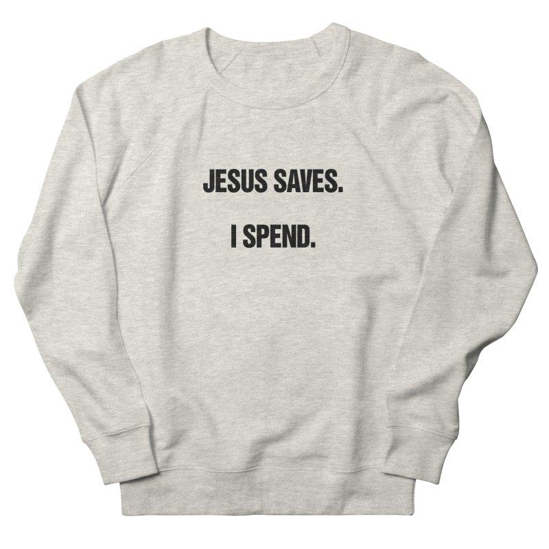 "SIDE EYE/""Jesus Saves"" (Black) Men's French Terry Sweatshirt by Josh Sabarra's Shop"