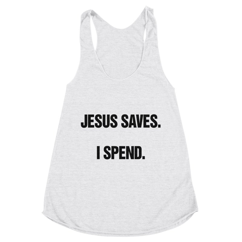 """SIDE EYE/""""Jesus Saves"""" (Black) Women's Tank by Josh Sabarra's Shop"""