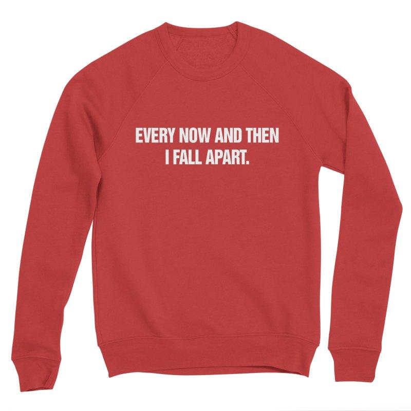 """SIDE EYE/""""Total Eclipse"""" (White) Men's Sponge Fleece Sweatshirt by Josh Sabarra's Shop"""