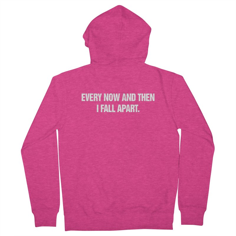 """SIDE EYE/""""Total Eclipse"""" (White) Women's French Terry Zip-Up Hoody by Josh Sabarra's Shop"""