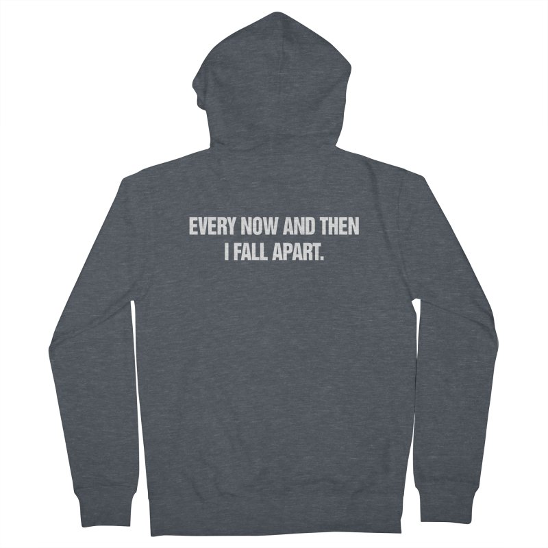 """SIDE EYE/""""Total Eclipse"""" (White) Men's French Terry Zip-Up Hoody by Josh Sabarra's Shop"""