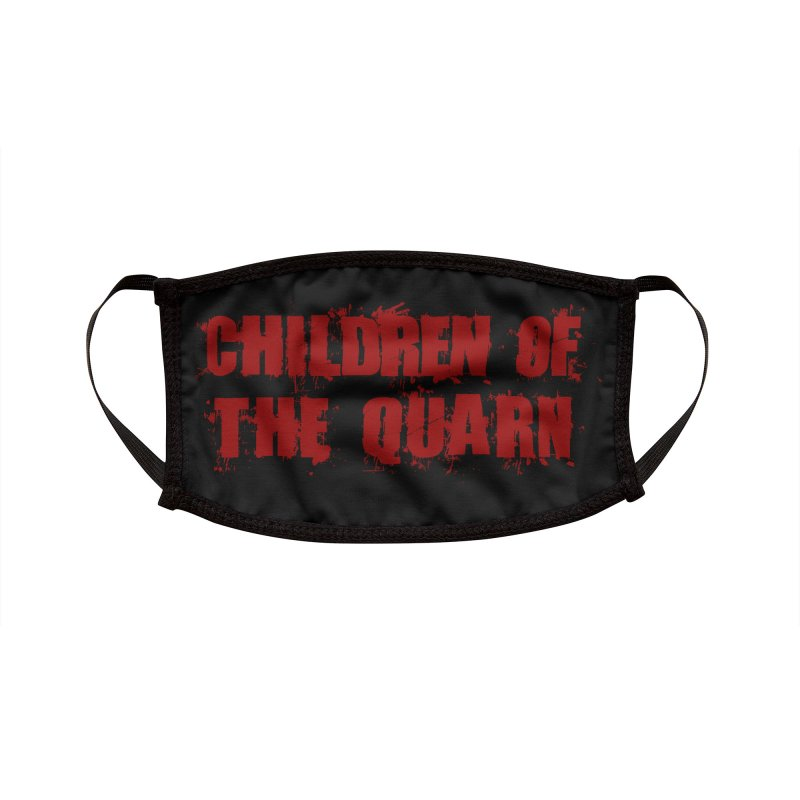 """SIDE EYE/""""Children of the Quarn"""" (Red) Accessories Face Mask by Josh Sabarra's Shop"""