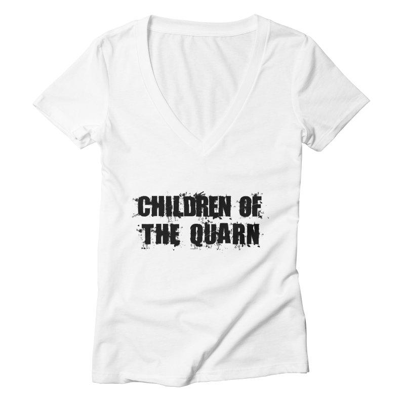 "SIDE EYE/""Children of the Quarn"" (Black) Women's V-Neck by Josh Sabarra's Shop"