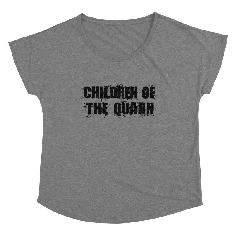 """SIDE EYE/""""Children of the Quarn"""" (Black) Women's Scoop Neck by Josh Sabarra's Shop"""