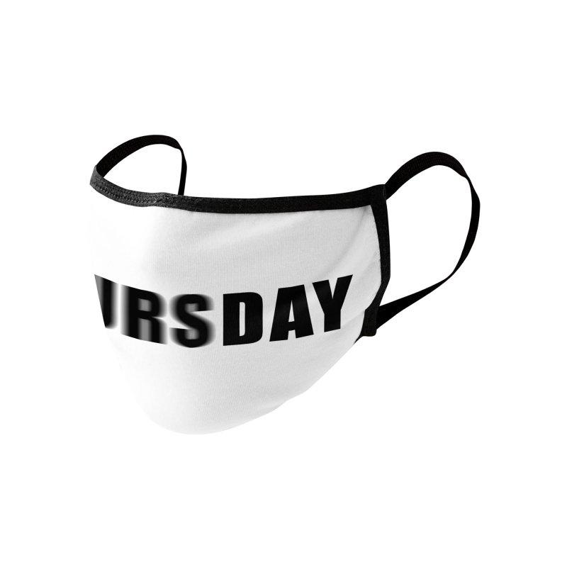 "SIDE EYE/""Blursday"" (Black) Accessories Face Mask by Josh Sabarra's Shop"