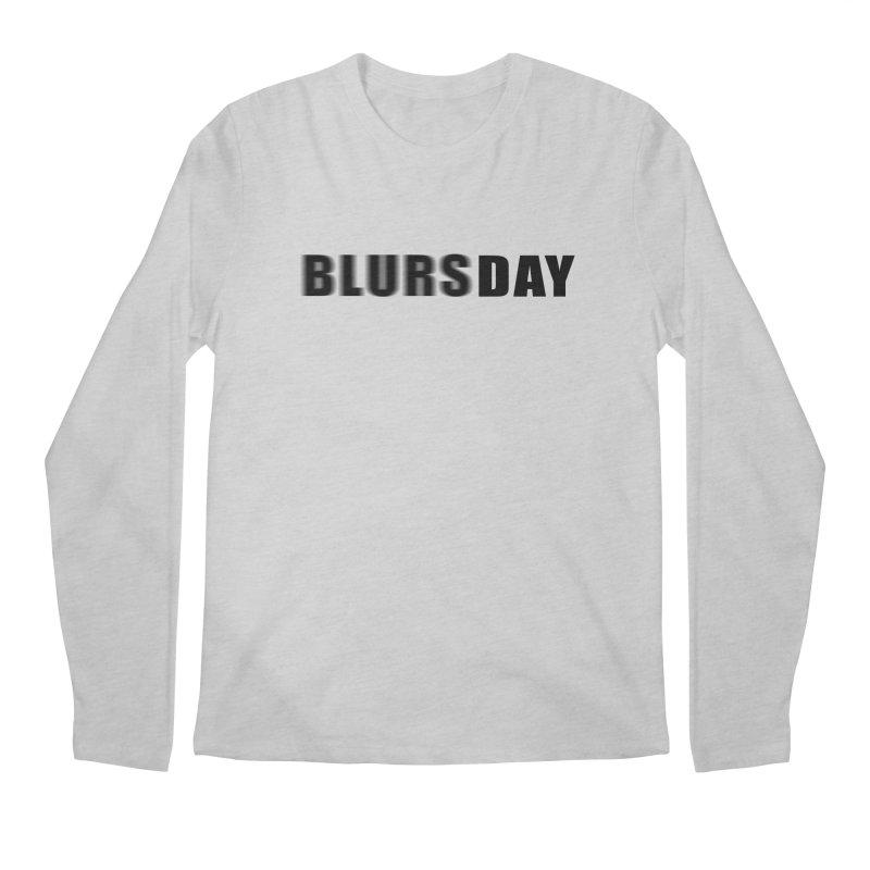 """SIDE EYE/""""Blursday"""" (Black) Men's Longsleeve T-Shirt by Josh Sabarra's Shop"""