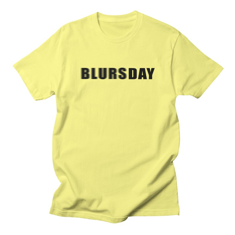 "SIDE EYE/""Blursday"" (Black) Men's T-Shirt by Josh Sabarra's Shop"