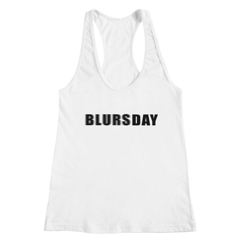 """SIDE EYE/""""Blursday"""" (Black) Women's Tank by Josh Sabarra's Shop"""