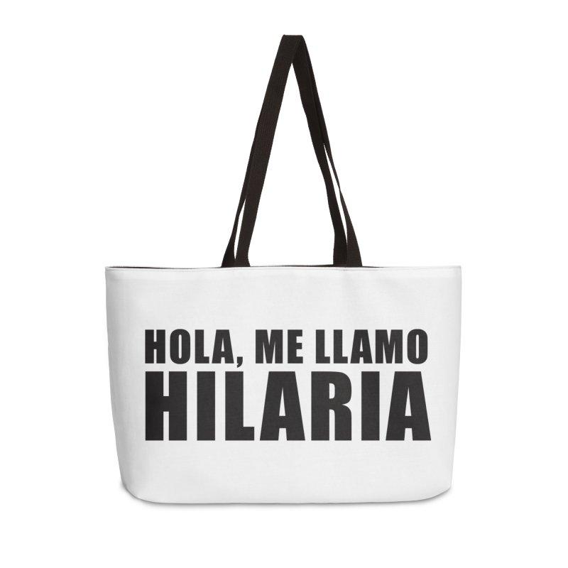 "SIDE EYE/""That's Hilaria!"" (Black) Accessories Bag by Josh Sabarra's Shop"