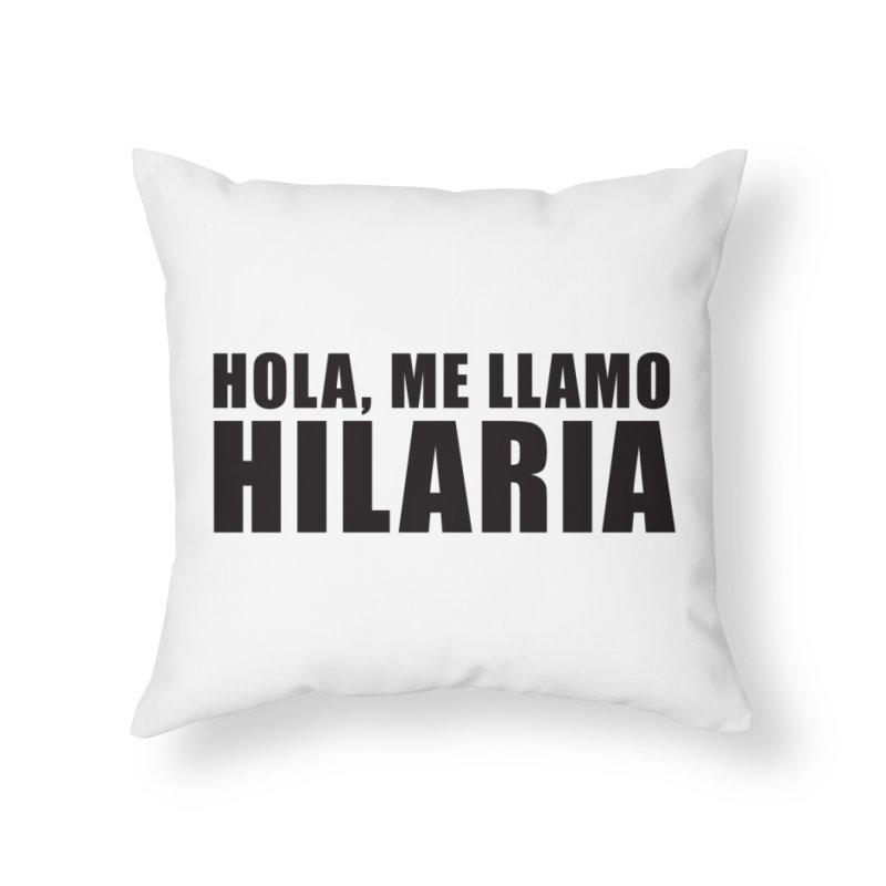 "SIDE EYE/""That's Hilaria!"" (Black) Home Throw Pillow by Josh Sabarra's Shop"