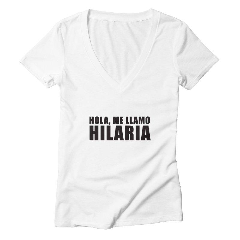 "SIDE EYE/""That's Hilaria!"" (Black) Women's V-Neck by Josh Sabarra's Shop"