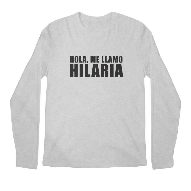 "SIDE EYE/""That's Hilaria!"" (Black) Men's Longsleeve T-Shirt by Josh Sabarra's Shop"