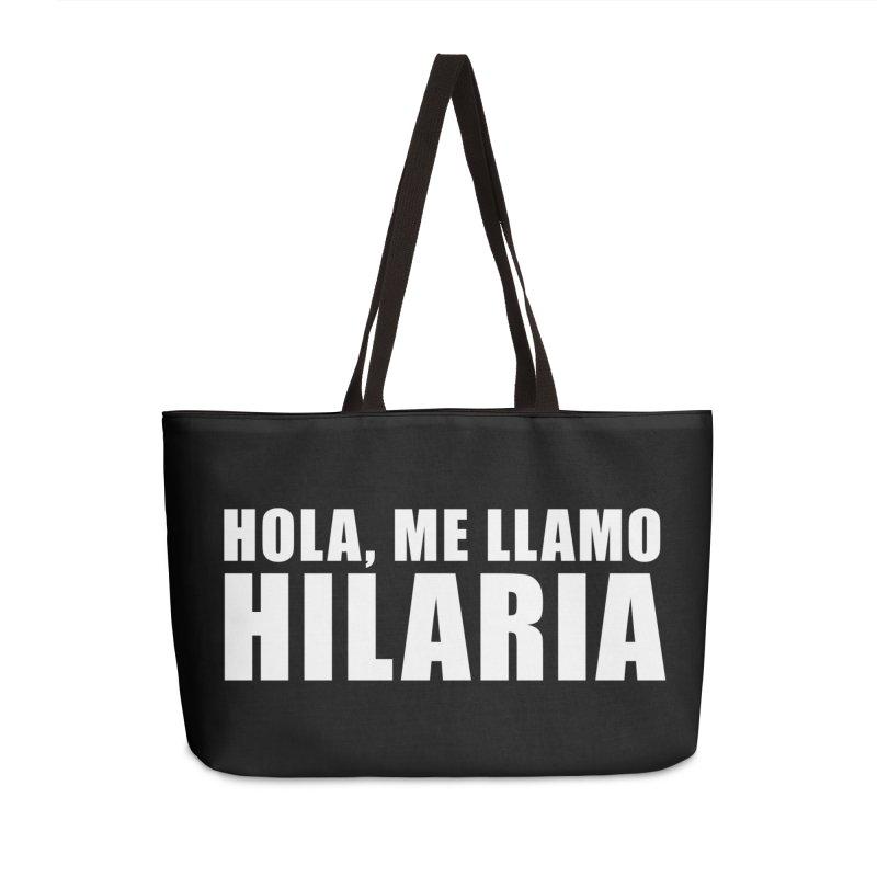 "SIDE EYE/""That's Hilaria!"" (White) Accessories Bag by Josh Sabarra's Shop"